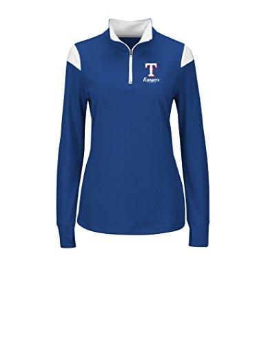 VF LSG MLB Texas Rangers Women's L5R Fashion Tops, Royal/White, Large (Rangers Light Mlb Texas)