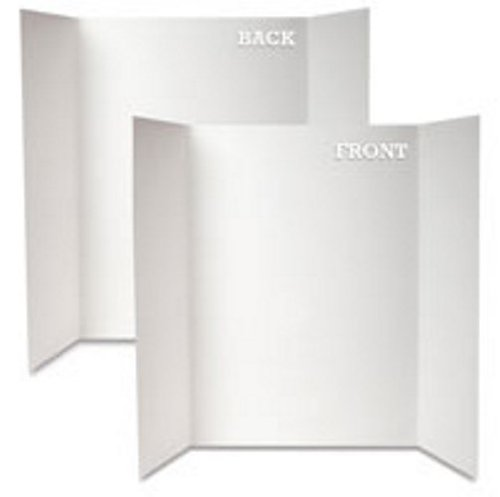 Royal Brites Project Board Tri-Fold White/White, 1 Ply, 20 x 28 Inches, 12 Sheets Case (27136)