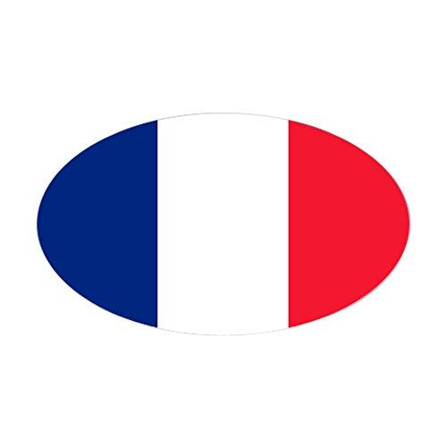 Sticker (Oval) Flag of France ()