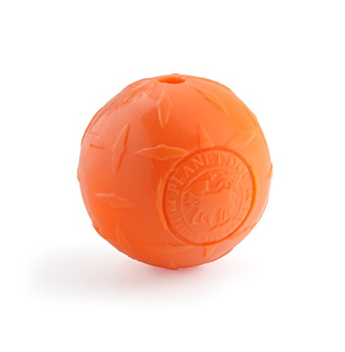 Planet Dog Orbee Tuff Diamond Plate Dog Ball, Nearly Indestructible Dog Chew Toy, Made in The USA, 4-inch, -