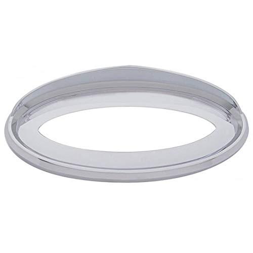 Chrome-Plated Plastic Emblem Bezel With Visor Fits Peterbilt