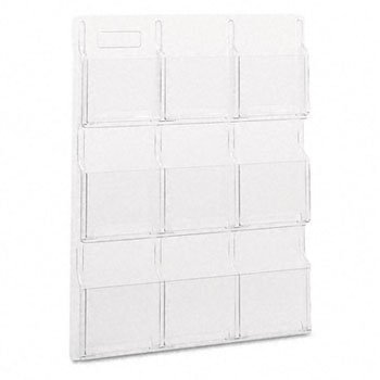 (Safco® RevealTM Clear Literature Displays DISPLAY,MAG,9PCK,CR (Pack of2))