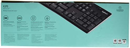 Logitech K270 Clavier sans Fil pour Windows, 2,4 GHz avec Récepteur Unifying USB, 8 Touches de Raccourci, Batterie Longue Durée 24 Mois, PC/Portable, Clavier AZERTY Français - Noir