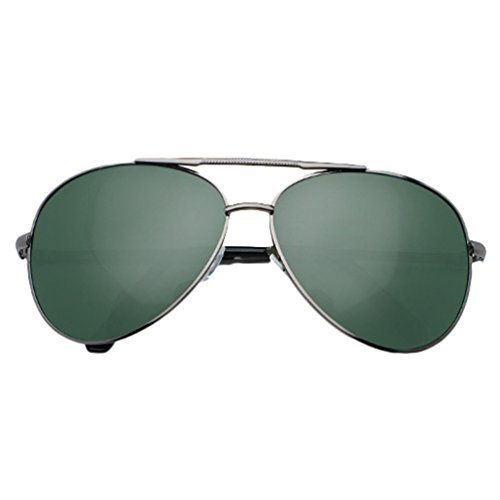 Eyeglasses Mujer Lentes Para UV LINNUO Polarizadas Aviador de Metálico Proteccion Gafas Sol Hombre Sunglasses Drive 3verde UUv0w6qI