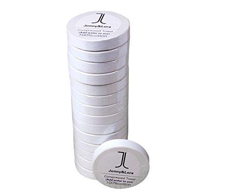 Jonny &Lora Reusable Compressed Towels Tablets(15 Pack 12