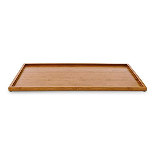 Harmony Bamboo Wooden Dog Placemat, Large/X-Large, Natural Wood