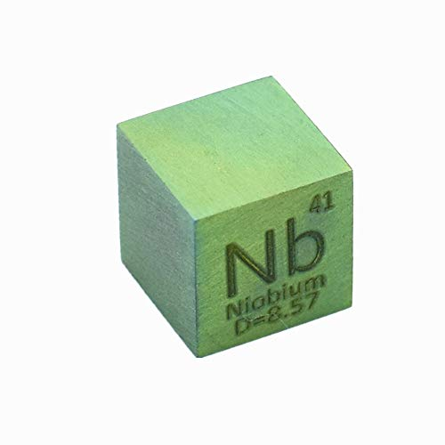 (Niobium Cube 10mm Nb Anodizing Green Color for Element Collections Lab Experiment Material Hobbies Simple Substance Block Display DIY)