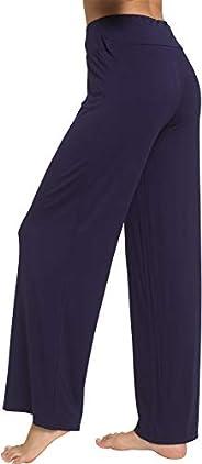 WiWi Women's Bamboo Lounge Pants Casual PJ Pant Stretch Sleep Bottoms Plus Size Pajama Bottoms