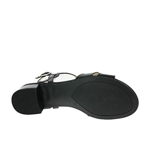 Caprice 28201, Sandalias de Talón Abierto Para Mujer Black Nappa