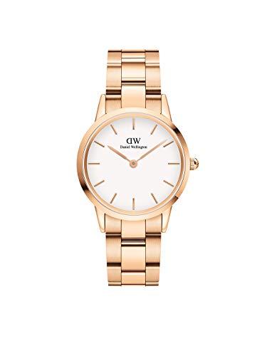 Daniel Wellington Japanese Quartz Watch with Stainless Steel Strap, Rose Gold, 16 (Model: DW00100211)