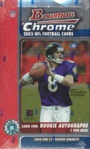 2003 Bowman Chrome Football HOBBY Box - -