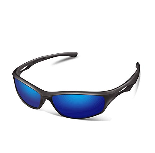 99894f4145 Amazon.com  Polarized Sports Sunglasses for Men Driving Baseball Running  Cycling Fishing Golf Tr90 Durable Frame  Sports   Outdoors