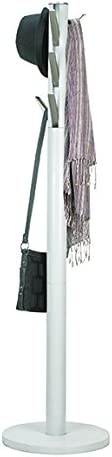 Umbra Flapper Coat Rack, Clothing Hanger, Umbrella Holder, and Hat Organizer, for Entryway, White