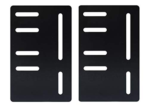 Headboard/Footboard Attachment Brackets Modification Modi-Plates for Bed Frame with Multiple Slots (Set of Two)