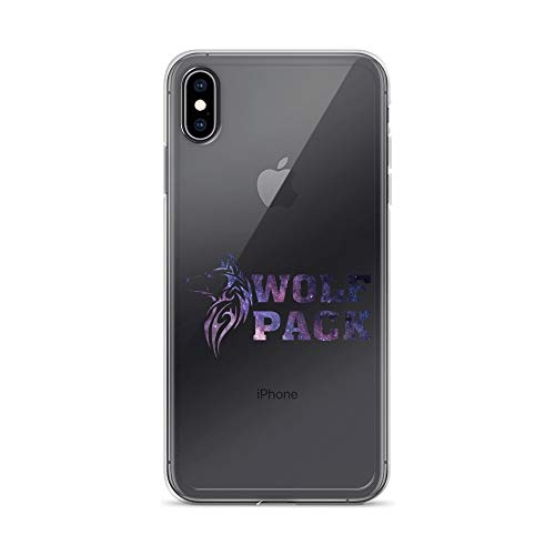 iPhone Xs Max Pure Clear Case Transparent Cases Cover Wolf Pack Funny Vintage Wolf Crystal -