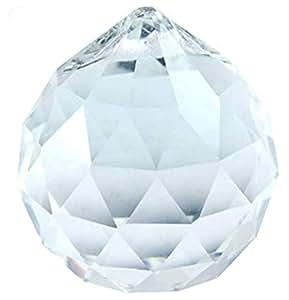Pure facetado bolas de cristal transparente para colgar (1,25)