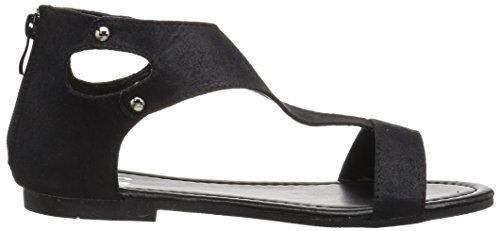 Brinley Co Damesbliss Platte Sandaal Zwart