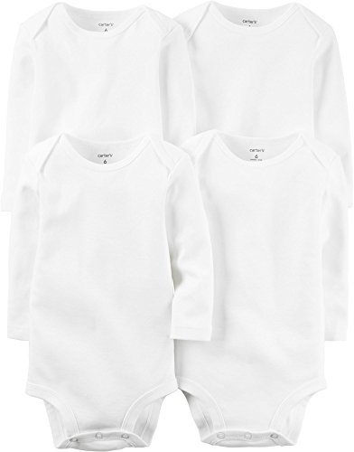 Carter's Baby 4-Pack Long Sleeve Bodysuits 3 Months