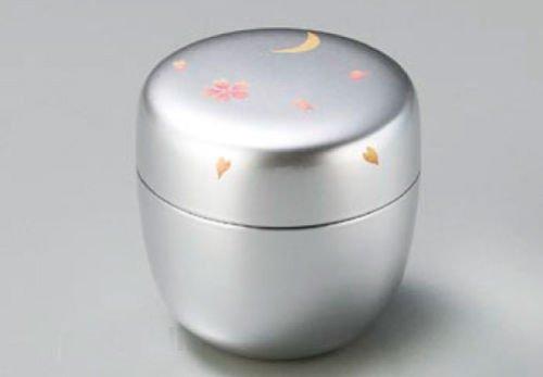 Echizen Urushi Lacquer Japanese Natsume tea ceremony Matcha Container Tea Caddy silver moon sakura by Echizen Urushi