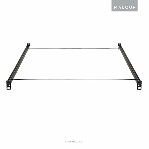 MALOUF Structures Bolt-on Metal Bed Rail System with Wire Support - Twin/Full