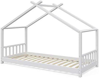 Vicco - Cama Infantil, diseño de casa, 90 x 2000 cm, Cama Infantil de Madera, casa para Dormir, Cama de casa con somier: Amazon.es: Hogar