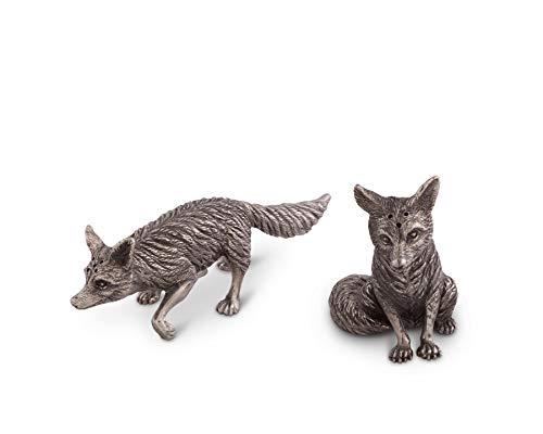 Vagabond House Pewter Foxes Salt & Pepper Set, 2.5