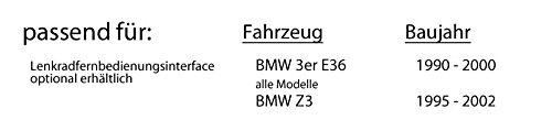 JUST SOUND best choice for caraudio Einbauset f/ür BMW 3er E36 JVC KD-DB67 DAB+ Digitalradio Antenne DAB+ USB Autoradio inkl
