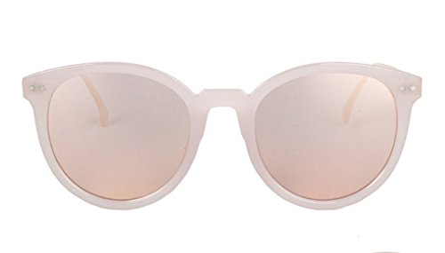 Flowertree Women's JTS861 Plastic Crown Detail Round Sunglasses - Wire Wrapped Sunglasses