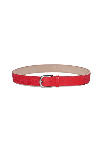 Desigual Women's 18Sarl02red Red Leather Belt by Desigual