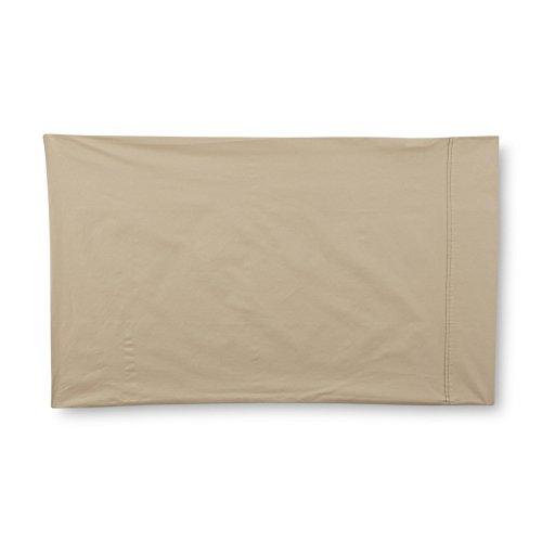CANNON 4 Piece 100% Cotton 300 Thread Count Percale Super Soft Sheet Set (Tan, Queen) (Sheets Cannon)