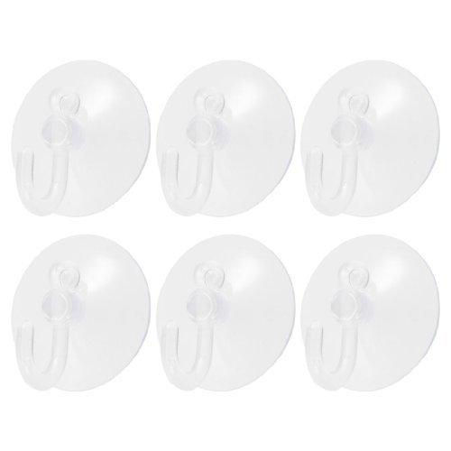 Amazon.com: eDealMax PVC de plástico ventosa gancho 6 piezas DE 30 mm Azul claro: Home & Kitchen