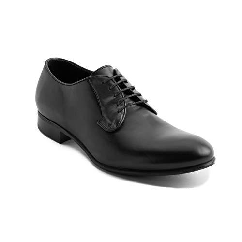 GIORGIO ARMANI Collezioni Men's Leather Oxford Dress Shoes Black
