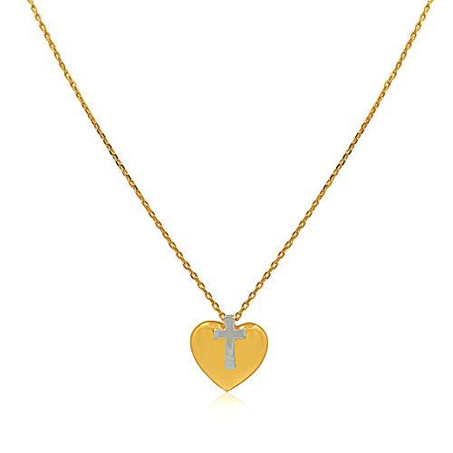 14k Yellow Gold Dora - Shin Brothers Inc. 14K Yellow Gold Cross Charm with 16