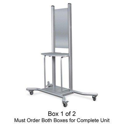 Balt Elevation Mobile Stand (box 1) - 1 Shelf - 2 x 4quot; Caster - 58quot; x 30.3quot; x 74quot; - Platinum