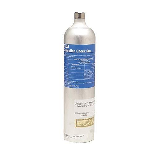 Oxygen, Carbon Monoxide, Hydrogen Sulfide, Methane Calibration Gas, 58L Cylinder Capacity ()