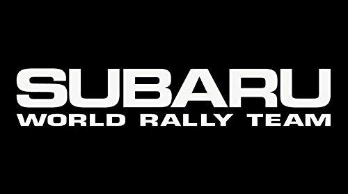 Subaru World Rally Decal Vinyl Sticker|Cars Trucks Vans Walls Laptop| White |5.5 x 2.5 in|LLI074