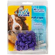 Soft Claws Canine Nail Caps - 40 Nail Caps and Adhesive for Dogs (Purple, XX-Large) by Soft Claws