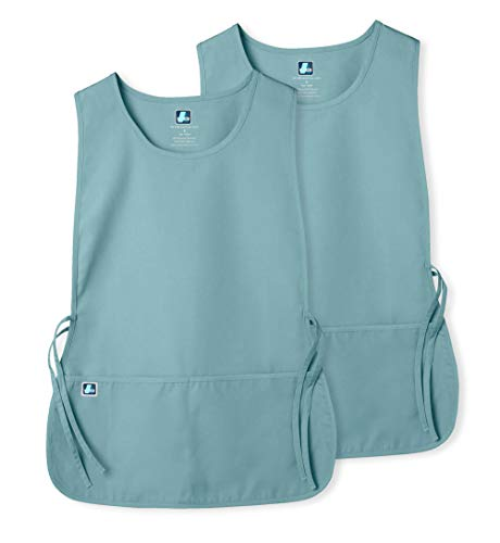 Adar Unisex Cobbler Apron (2 Pack) with 2 Pockets/Adjustable Ties - Available in 18 Colors - 7022 - Submarine - X
