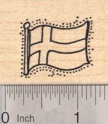Flag of Sweden Rubber Stamp, Scandinavian Cross
