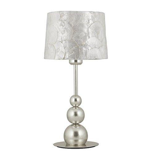 Iluminación AJP Andrea - Lámpara de mesa con acabado en plata deco ...