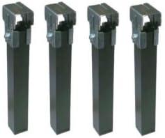 Micel - Juego pata somier 30x30 con rueda negro(4 uds pzas)