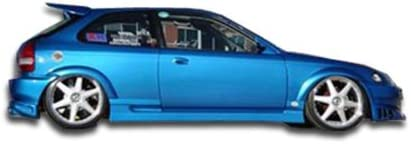 Brightt Duraflex ED-YIS-272 Bomber Side Skirts Rocker Panels Compatible With Mustang 1994-1998 2 Piece Body Kit