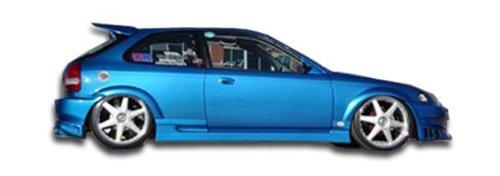 Vaero Duraflex Replacement for 1996-2000 Honda Civic 2DR / HB Bomber Side Skirts Rocker Panels - 2 - Skirts Hb Side