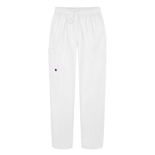 Sivvan Women's Scrubs Drawstring Cargo Pants (Available in 12 Colors) - S8200 - White - - Apple Women Bottoms