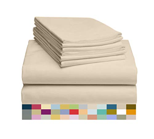 (LuxClub 6 PC Sheet Set Bamboo Sheets Deep Pockets 18