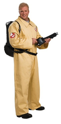 Ghostbusters Deluxe Costume Jumpsuit, Beige, Plus (Science Fiction Costumes)