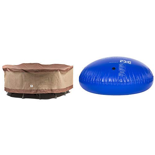 Duck Covers Ultimate Round Patio Table with Chairs Cover, 76-Inch with Duck Dome Airbag, 54''D x 24''H