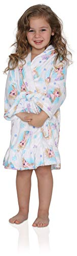 Disney Girls' Toddler Frozen Elsa Luxe Plush Robe, Snowy White, 3T ()