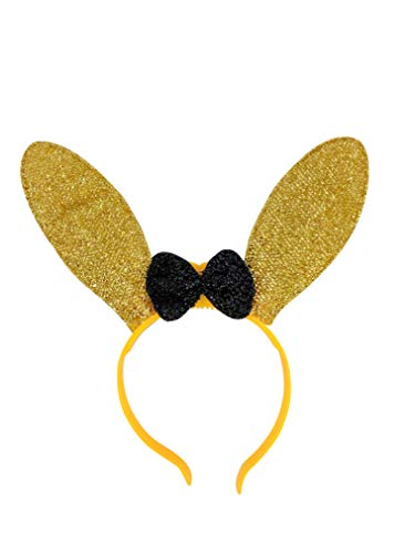 (The Electric Mammoth LED Light Up Flashing Sparkly Bunny Ears Headband (Yellow))