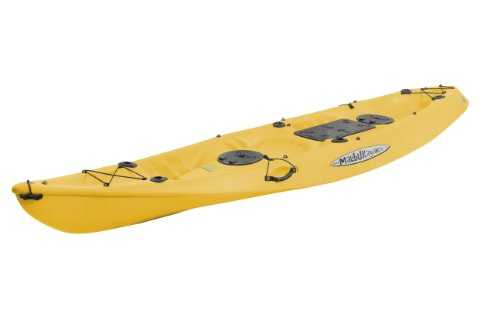Malibu Kayaks Pro 2 Tandem Fish and Dive Package Sit on Top Kayak, Mango, Outdoor Stuffs
